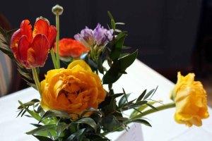 Blüten in der Ausstellung von Hanka u Frank Koebsch im Schloß Griebenow