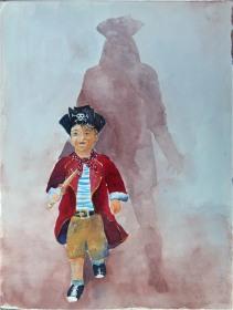 Der kleine Pirat (c) Aquarell von Hanka Koebsch