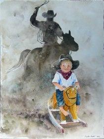 Kleiner Cowboy (c) Aquarell von Hanka Koebsch