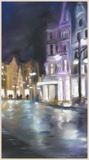 Regen in der City (c) Pastell von Hanka Koebsch