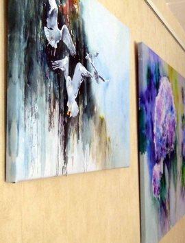 Zwei Drucke unserer Aquarelle auf Leinwand (c) Frank Koebsch (1)