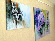 Zwei Drucke unserer Aquarelle auf Leinwand (c) Frank Koebsch (2)