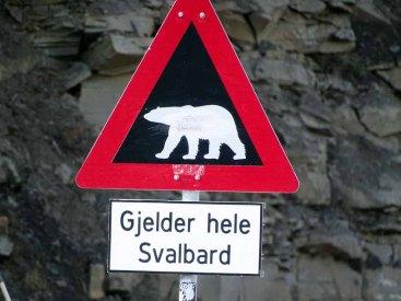 Aufpassen Eisbären - Spitzbergen (c) Hanka Koebsch