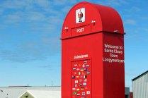 Briefkasten des Weihnachtsmann in Longyearbyen auf Spitzbergen © Frank Koebsch