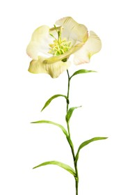 """Hermann August Weizenegger, Die falsche Blume – Blume """"Lore"""", Polyamid, gesintert, Seidenstoff, handkoloriert, 40 cm x ø 10 cm"""
