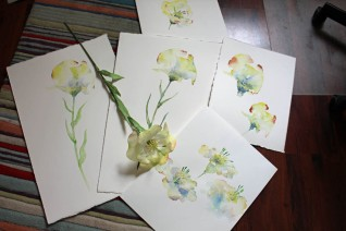 Die Kunstblume Lore und ihre Aquarelle von Hanka Koebsch (1)