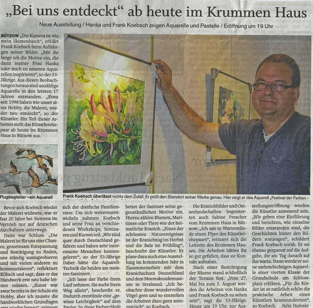 Die SVZ berichtet über die Ausstellung