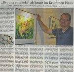 """Die SVZ berichtet über die Ausstellung """"Bei uns entdeckt"""" von Hanka & Frank Koebsch in Bützow"""