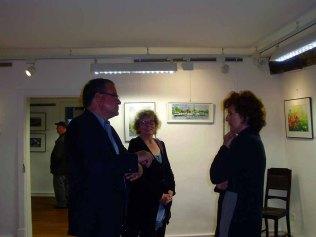 Hanka und Frank Koebsch in Ihrer Ausstellung in Bützow (c) Sabine Prescher (1)