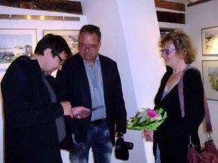 Hanka und Frank Koebsch in Ihrer Ausstellung in Bützow (c) Sabine Prescher (2)