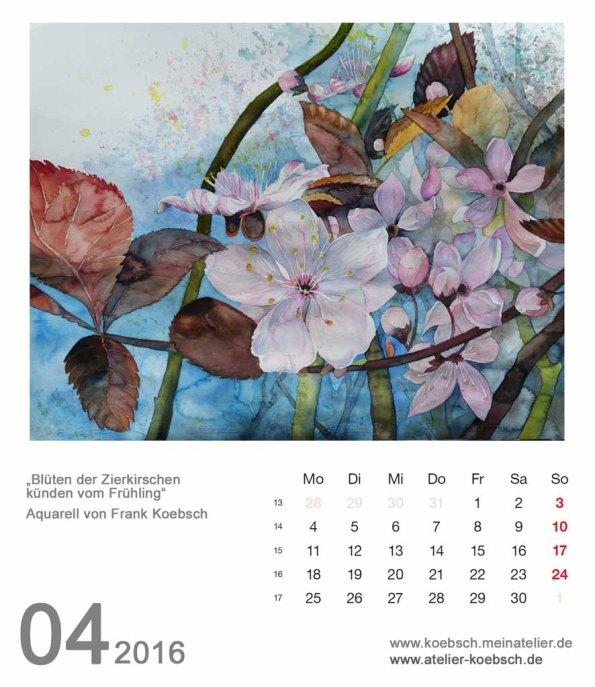 Kalenderblatt April 2016