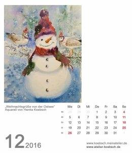 Kalenderblatt Dezember 2016