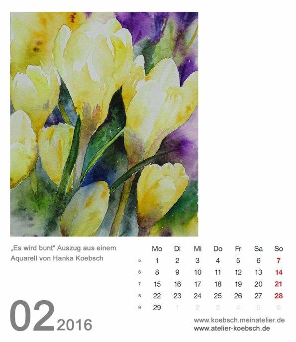 Kalenderblatt Februar 2016