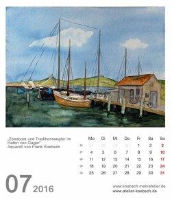 Kalenderblatt Juli 2016