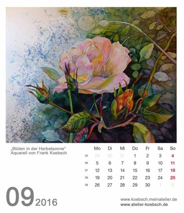 Kalenderblatt September 2016