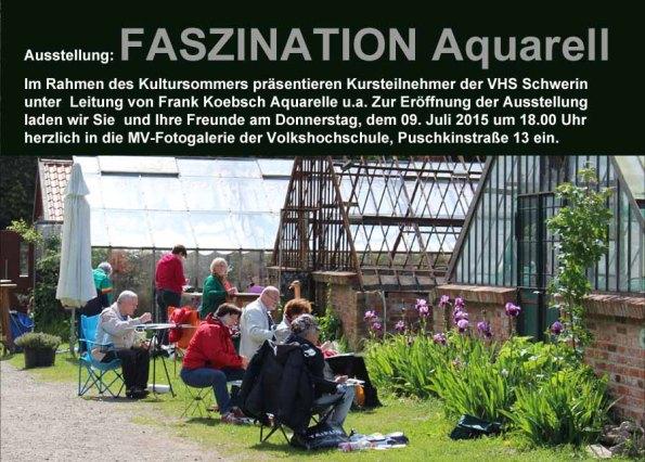 Ausstellung Faszination Aquarell in Schwerin (c) Frank Koebsch