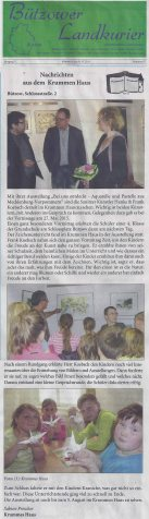 Der Bützower Landkurier berichtet über unsere Ausstellung im Krummen Haus