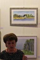 Frau Hannah Lenz bei der Eröffnung der Ausstellung Faszination Aquarell 2015 (c) Frank Koebsch