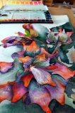 ganz langam füllt sich das Blatt mit den Blüten des Sebnitzer Flussteufels (c) Frank koebsch