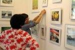 Hängen der Ausstellung Faszination Aquarelle (c) Frank Koebsch (12)