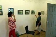 Hängen der Ausstellung Faszination Aquarelle (c) Frank Koebsch (9)