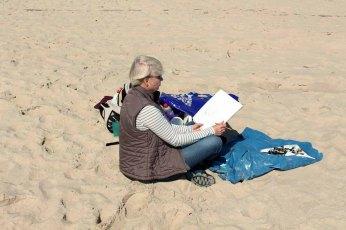 Malen am Strand von Baabe (c) Frank Koebsch (1)