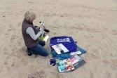 Malen am Strand von Baabe (c) Frank Koebsch (2)