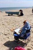 Malen am Strand von Baabe (c) Frank Koebsch (6)