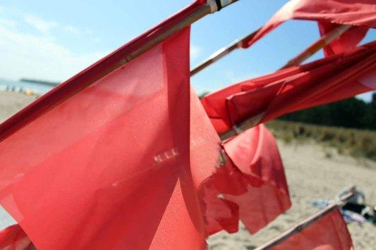 Rote Fänchen der Fischer im Wind (c) Frank Koebsch (2)