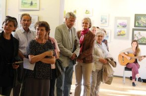 Schnappschüsse von der Eröffnung der Ausstellung Faszination Aquarell 2015 (c) Frank Koebsch (10)