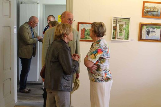 Schnappschüsse von der Eröffnung der Ausstellung Faszination Aquarell 2015 (c) Frank Koebsch (2)