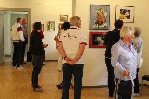 Schnappschüsse von der Eröffnung der Ausstellung Faszination Aquarell 2015 (c) Frank Koebsch (3)