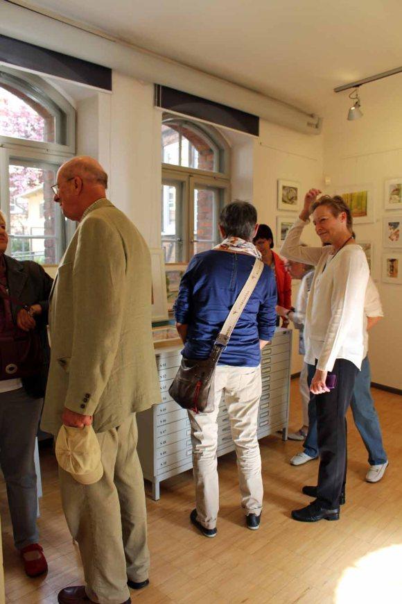 Schnappschüsse von der Eröffnung der Ausstellung Faszination Aquarell 2015 (c) Frank Koebsch (5)