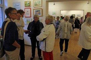 Schnappschüsse von der Eröffnung der Ausstellung Faszination Aquarell 2015 (c) Frank Koebsch (6)