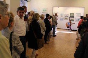 Schnappschüsse von der Eröffnung der Ausstellung Faszination Aquarell 2015 (c) Frank Koebsch (9)