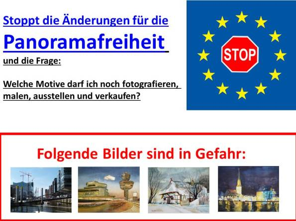 Stoppt die Änderungen für die Panoramafreiheit