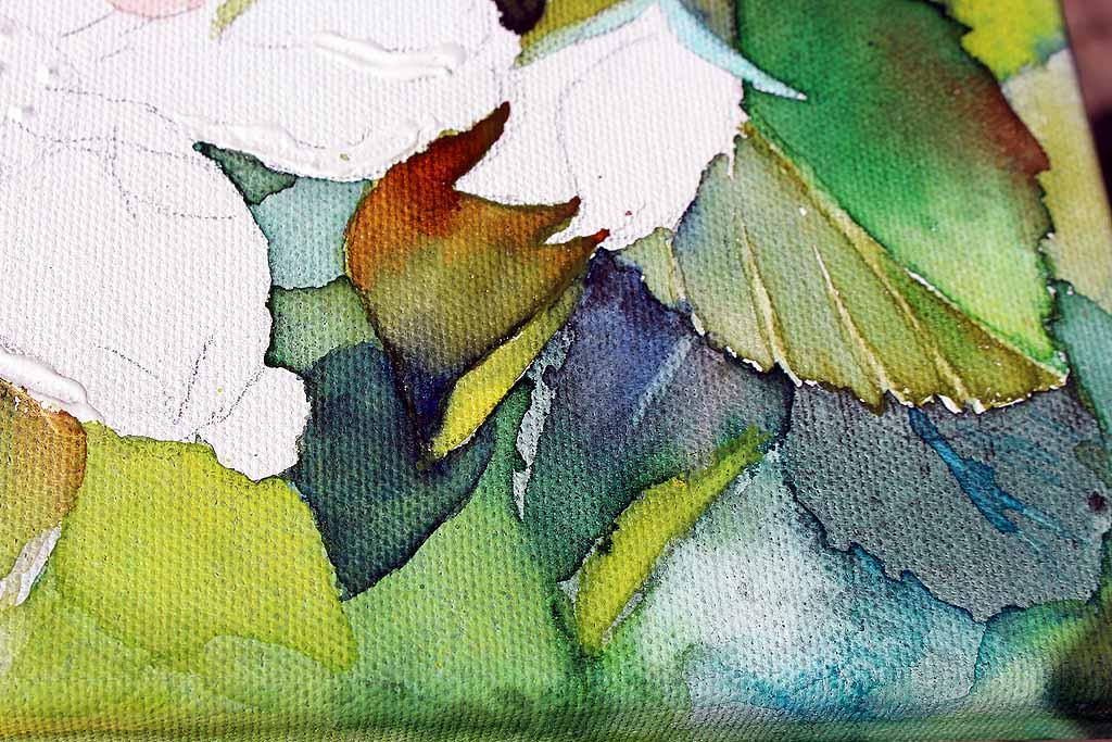 Florale aquarelle bilder aquarelle vom meer mehr - Leinwand motive ...