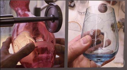 Die Kristallglasmanufaktur Theresienthal GmbH im Designmärchen - Die falsche Blume (c) DRESDENEINS.TV