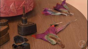 Materialien der Manufaktur Deutsche Kunstblume Sebnitz für den Flussteufel (c) DRESDENEINS.TV