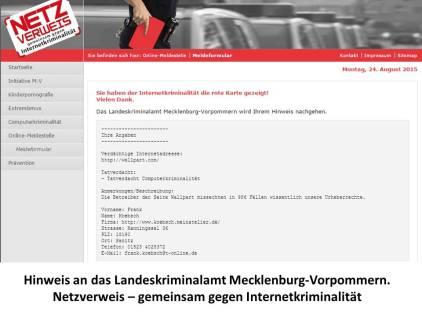 Netzverweis gegen Wallpart – gemeinsam gegen Internetkriminalität