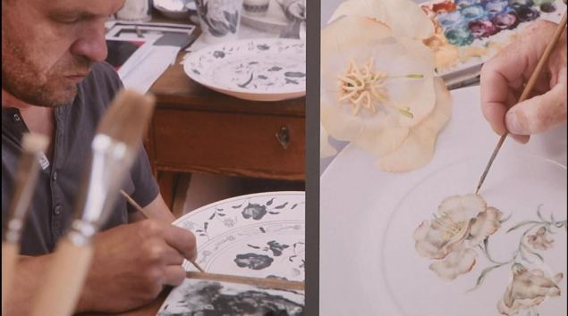 Porzelanmalerei im Rahmen des Designmärchens - Die falsche Blume (c) DRESDENEINS.TV