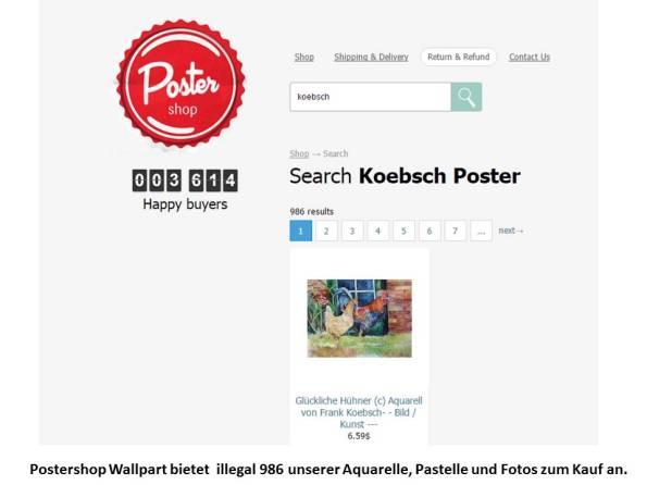 Postershop Wallpart bietet illegal 986 unserer Aquarelle, Pastelle und Fotos zum Kauf an.