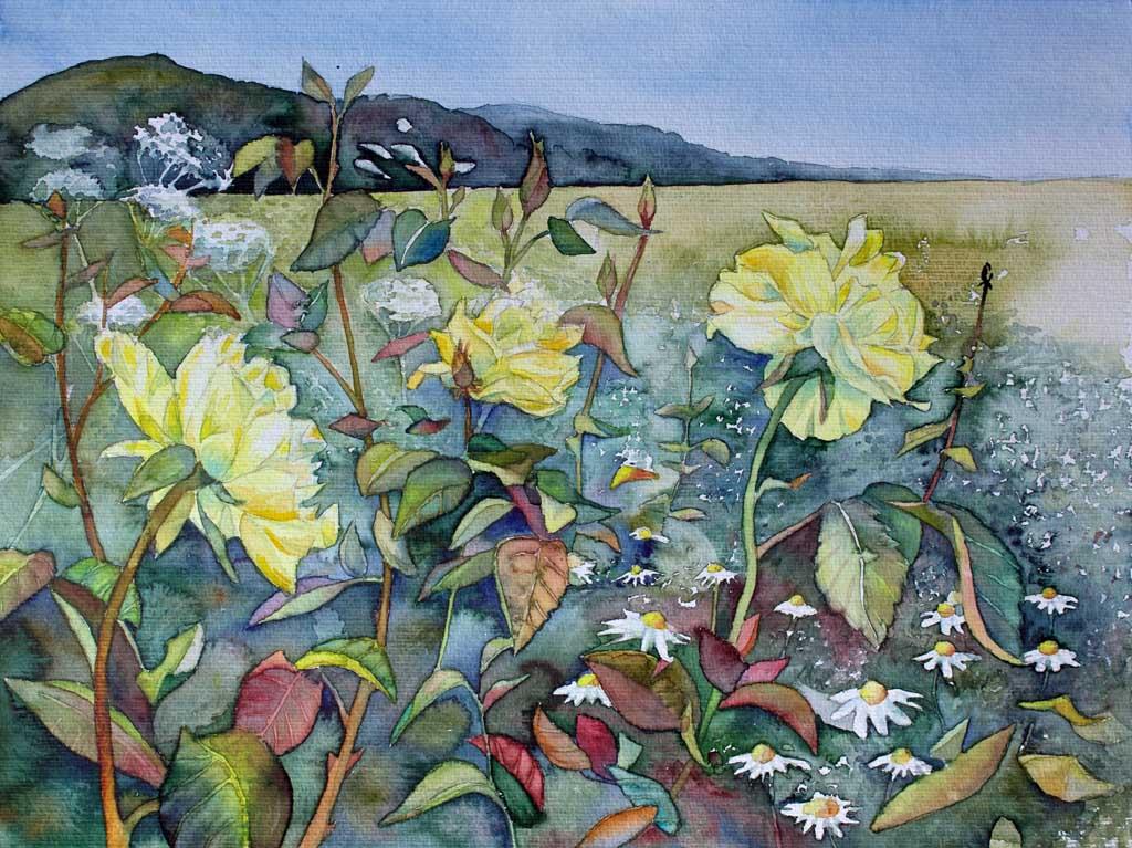 Blumen bl ten in aquarell bilder aquarelle vom meer - Aquarell vorlagen ...