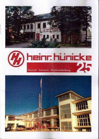 25jährigen Firmenjubiläum Heinr. Hünicke Rostock