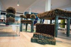 Arbeitszimmer aus 60 000 Bleistiften von Faber Castell der Künstlerin Kerstin Schulz (c) Frank Koebch