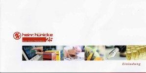 Einladung zum 25jährigen Firmenjubiläum Heinr Hünicke Rostock