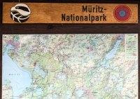 Karte des Müritz Nationalparks (c) Frank Koebsch