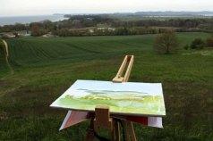 Plain Air Malerei auf dem Mönchgut (c) Frank Koebsch (1)