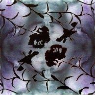 Rapport - Aquarell auf Leinwand - 4 x blau mit Blüten (c) FRank Koebsch