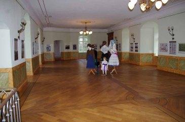 Ausstellungssaal im Schloss Meyenburg